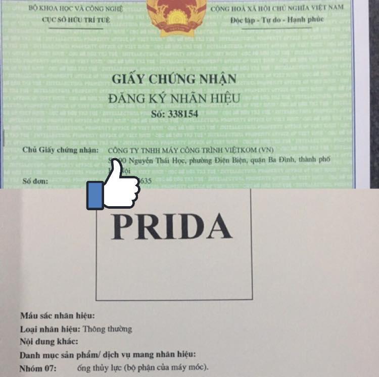 chung nhận độc quyền prida
