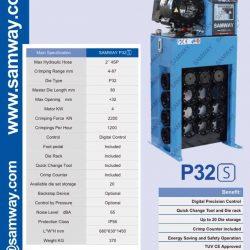 Máy ép ống thủy lực Samway P32S
